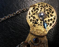 Steampunk Diamond Necklace by rhin-sowilo