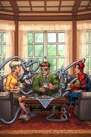 Spidey and a spot of tea. by GURU-eFX