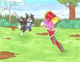 Luner VS Amy_Commission by Ila-Mae