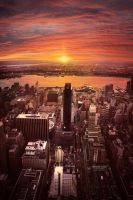 New York City from Empire State Building by Cadice