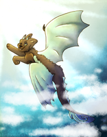 Through the sky by thedoomedkitteh