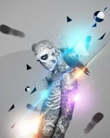 Zombie Boy love Colorful Lights by viork