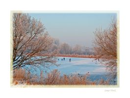 The ice skaters by Lentekriebel