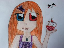 Red-blue eyed girl by DianaDrawingLover