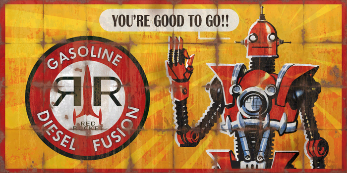 Red Rocket Billboard Advert - Fallout 4 by PlanK-69
