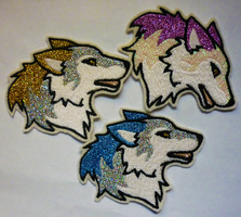 SPECTRA Specials ~ Wolf head patches by goiku