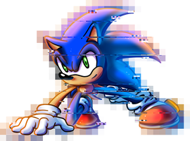 Glitch Sonic by MudSaw