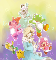 Fav Mario Kart Wii Characters by Quadrackss