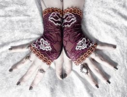 Theodosia Lace Fingerless Gloves by ZenAndCoffee