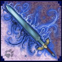 Blue Legendary Sword by MyraethCorax