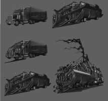 Post-Apocalyptic Vehicle by Panda-Graphics