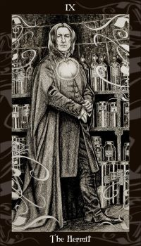 HP Tarot - 9 The Hermit by Ellygator