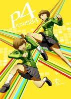 Chie Satonaka - Shadow boxing by polarityplus