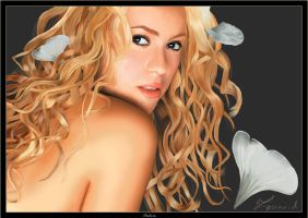 Shakira Portrait by zoanoid