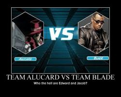 Team Alucard vs Team Blade by Kersey475