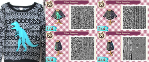 Animal Crossing QR Code - TRex Sweater by Vidimus78