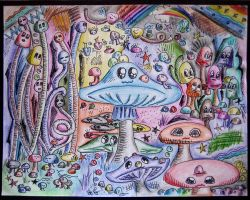 Psychedelic Mushrooms by Venry