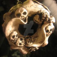 Bone Frill Ornament by thedustyphoenix