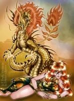 Chinese Dragoness collab by DrakainaQueen