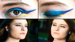 Ombre makeup by Apeanutbutterfiend