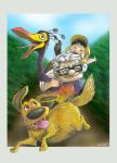 Carl Fredricksen and friends.. by blackwinged-neotu