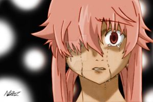 Yuno Gasai (Dotted Background) by ShadowScythe7
