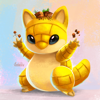 027 - Sandshrew by TsaoShin