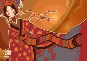 September: the wife of Chinese Water God by Dferous
