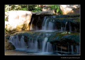 Garden Waterfall by Astraea-photography