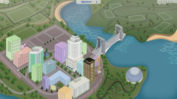 (Sims 4 Fanmade Map) Bridgeport by filipesims