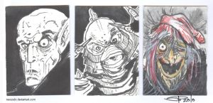 Horror Sketchcards DSC by NexusDX