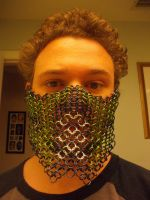 Mortal Kombat Themed Chainmaille Mask by Werbenjagermanjensen