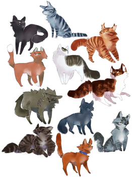 bunch of cool cats by revioLATE