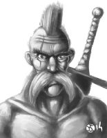 30min Speed Paint - Old Barbarian by koyote974