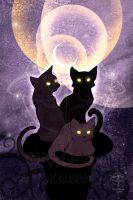 Witch Cats - Soft colors by giz-art