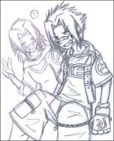 Tusk and Dawn WIP by Spaniel122