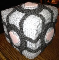 Companion Cube Plush by Tirrivee