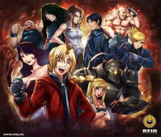 FULL METAL ALCHEMIST Group by reiq