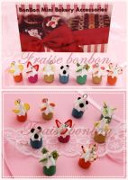 tiny fruits cupcakes by Fraise-Bonbon