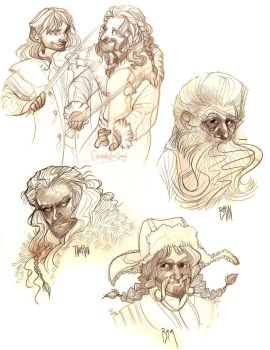 Hobbit sketches 3 by E-boc