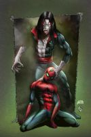 Spiderman vs Morbius COLORS by FableBound