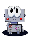 Cute Robot by SuperArtNerdJ
