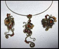 Sounds of autumn stream set by JSjewelry