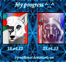 My progress again) by MidTsumi