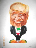 Donald Trump caricature by BluDraconoid