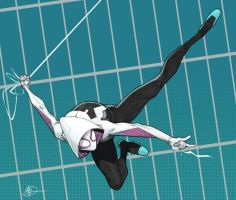 Spider Gwen Coloured by Max-Dunbar