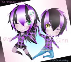 Holiday Twins by E13-SinnHoliday
