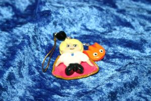 Howl and Calcifer Charm Phone Strap by LoekazCharms