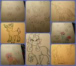 mlp oc sketch characters by WolffangComics