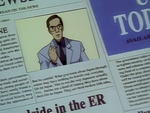 Lupin III screenshot - curious newspaper article by LatinNewYorker